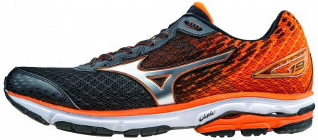 Mizuno Waverider-19, Sort/orange