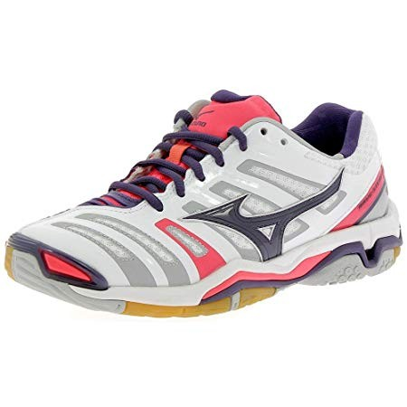 Mizuno Wave Stealth 4 White/rosa Lady